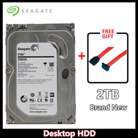 Seagate Brand 2000GB HDD Desktop PC 3.5 Internal Mechanical Hard disk SATA3 6Gb/s HDD 2TB 5900/7200 RPM 64 MB Buffer
