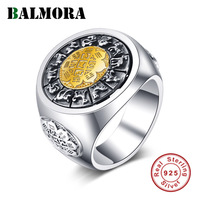 BALMORA 925 Sterling Silver Rotated Rings for Women Men Lovers Gift Vintage Unique Ring Sterling Silver Jewelry Anillos
