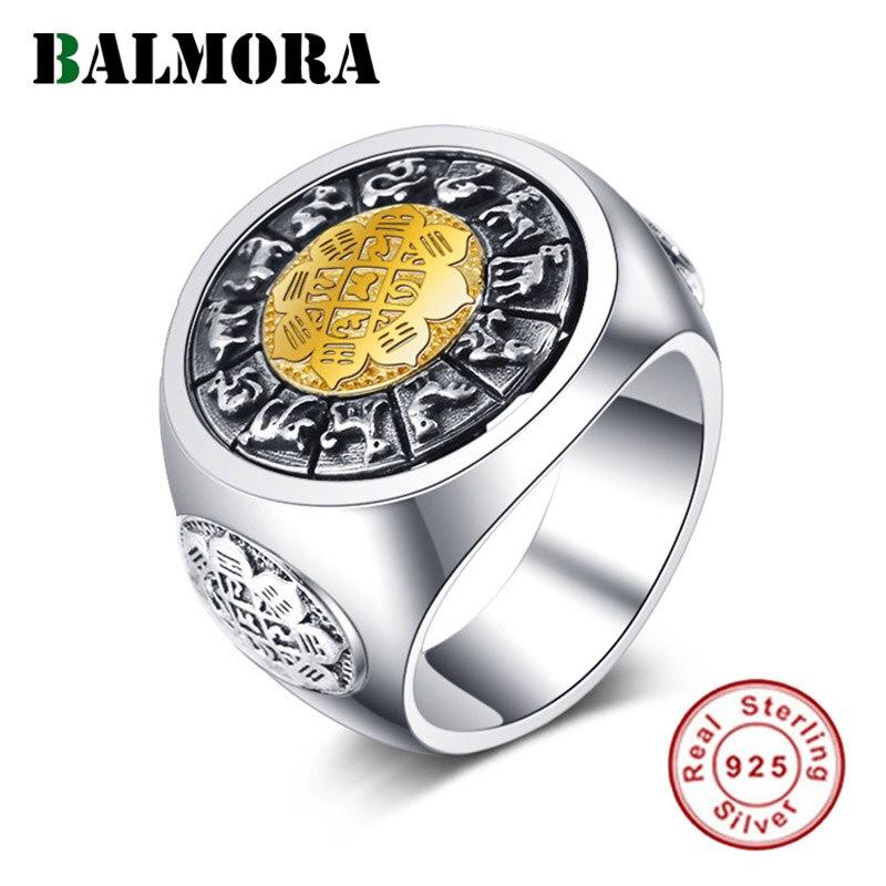BALMORA 925 argent Sterling tourné anneaux pour femmes hommes amoureux cadeau Vintage Unique bague en argent Sterling bijoux Anillos
