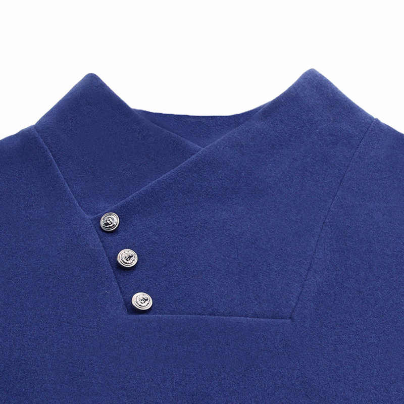 2019 厚く暖かい底入れシャツタートルネック新ファッションブランド Tシャツの男性トレンド V NeckTops 長袖 Tシャツ男性服