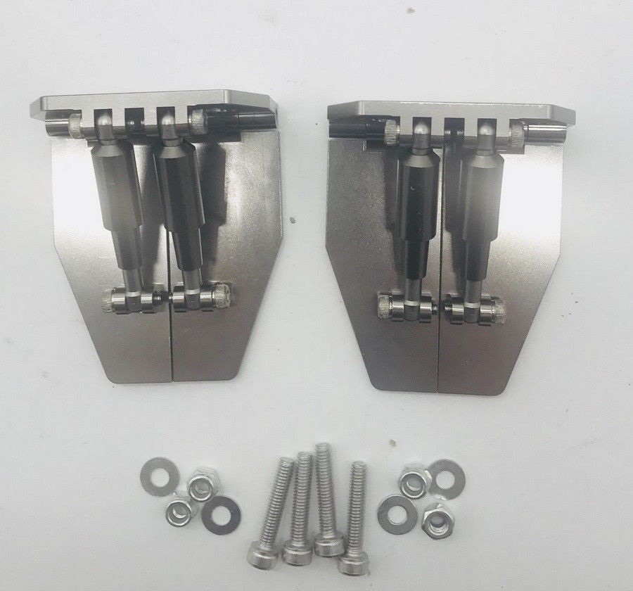 Pair Marine Thickened Water Pressure Plate Hydraulic Fracturing Trim Tab Flaps Spare Parts For RC Petrol/Electric Boat