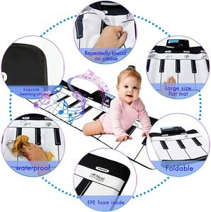 Image 4 - 110x36cm Electronic Musical Mat Carpets Keyboard Baby Piano Play Mat Toy Musical Instrument Music Toys Educational Toys for Kids