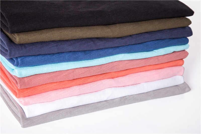 2020 Nieuwe Zomer 10 Kleuren V-hals T-shirt Mannen 100% Gekamd Katoen Effen Korte Mouw T-shirt Mannen Fitness Hemd Mannelijke tops Tees