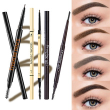 MB Eyelash brush Eyebrow Pen Waterproof Fork Tip Eyebrow Tattoo Pencil Lasting Professional Fine Sketch Liquid Eye Brow Pencil