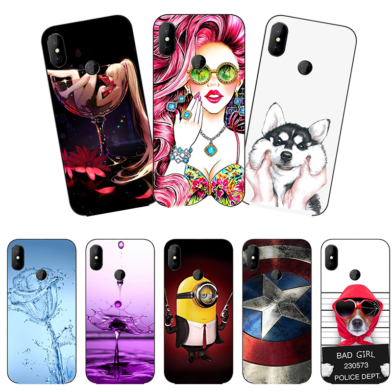 Painted <font><b>Case</b></font> For <font><b>Doogee</b></font> <font><b>X70</b></font> <font><b>Case</b></font> <font><b>Silicone</b></font> Soft TPU <font><b>Cases</b></font> For <font><b>Doogee</b></font> <font><b>X70</b></font> X 70 Cover Wildflowers Animal Cute Bags 5.5 inch image