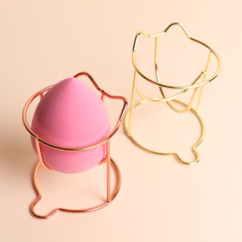 1 Pcs Cute Cat Makeup Sponge Gourd Powder Puff Rack Beauty Egg Bracket Box Dryer Cosmetic Organizer Shelf Holder Storage Tools