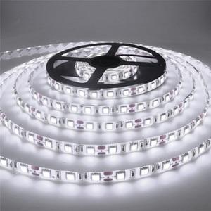 Водонепроницаемая светодиодная лента 2835 DC12 в 60 светодиодов/м 5 м/лот светильник та RGB 5050 Светодиодная лента белый/теплый белый/красный/жадный/синий