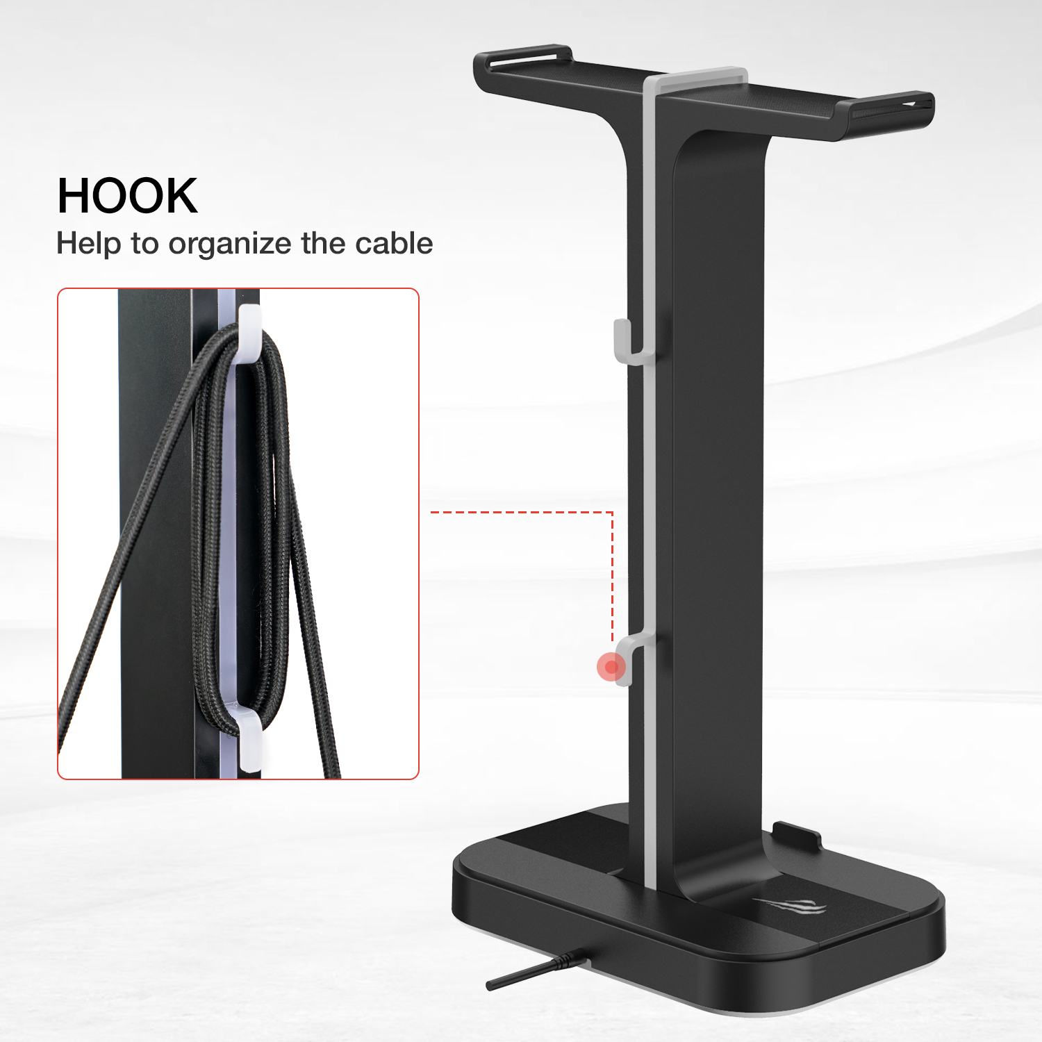 Havit RGB Gamer Headphone Stand with 2 USB Charger Ports 3