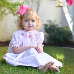 Toddler Girls Spanish Boutique Dress Cotton Short Sleeve Baby Girl Smocked Dresses 2020 Sister Clothes Infant Birthday Dresses