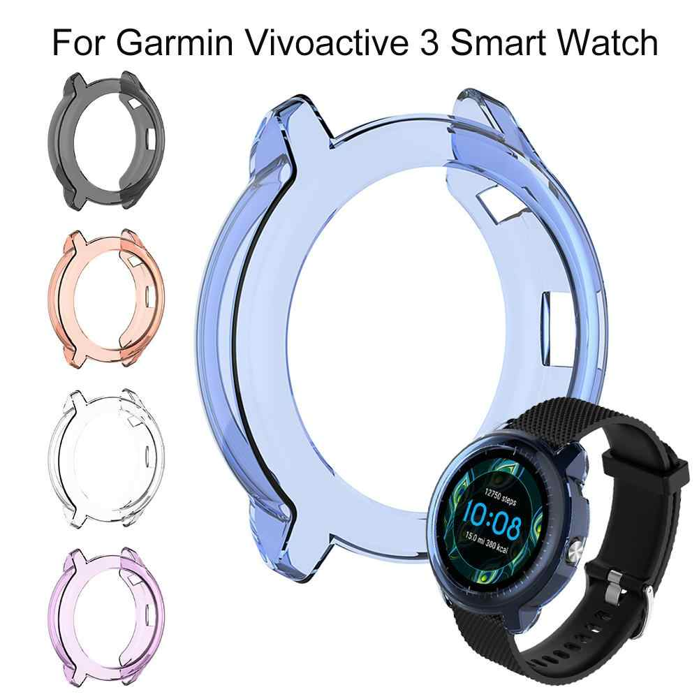For Garmin Vivoactive 3 Smart Watch Cover High Quality TPU Silicone Protector Case Cover Protective Shell Diameter 46MM