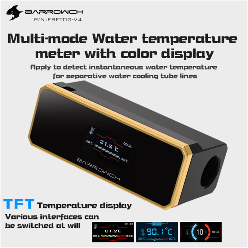 Barrowch Multimode Water Temperature Meter With Color TFT Display Overheat And Intelligent Shutdown FBFT02-V4