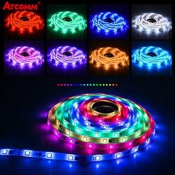 LED bande lumineuse RGB 5050 SMD DC12V Flexible lampe à LED ruban ruban étanche bricolage lumières bande 1m 2m 3m 4m 5m TV écran rétro-éclairage