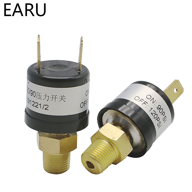1pc New Pressure Switches Valves Switch Air Compressor Pressure Control Switch Valve Heavy Duty 90 PSI -120 PSI Hot