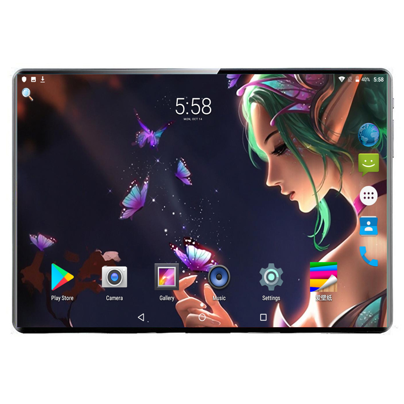 Android 9.0 Smart Tablet Pc 10.1 Inch 10 Core MTK6797 Tablet Computer Ram 8GB Rom 128GB 1920X1200 IPS 8MP Dual Camera
