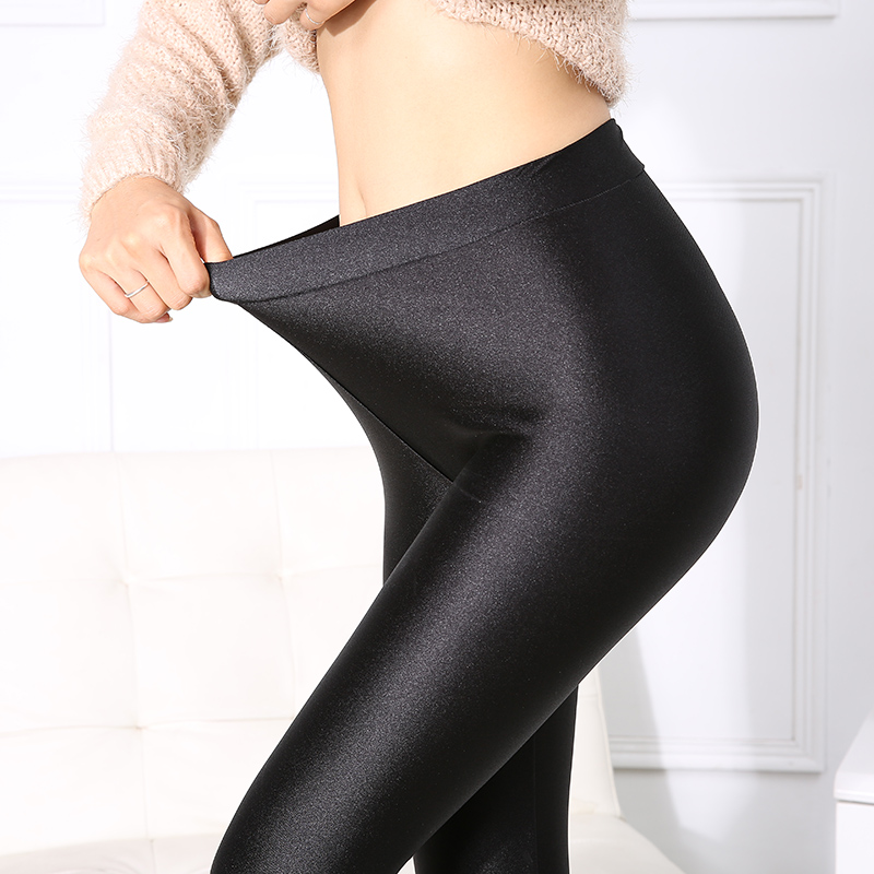 Goocheer Push Up Leggings Women Black Sexy Leggins Shiny Legging Autumn Slim Leggings Stretchy Soft Large Size Spandex Legging
