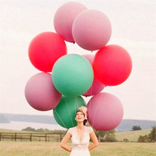 1pcs 36 inch 2.5g colorful large latex inflatable helium balloons fly giant balloon birthday party wedding balloon Decoration ao055 3m inflatable helium balloon helium balloon with led light customized logo giant inflatable pvc advertising helium balloon