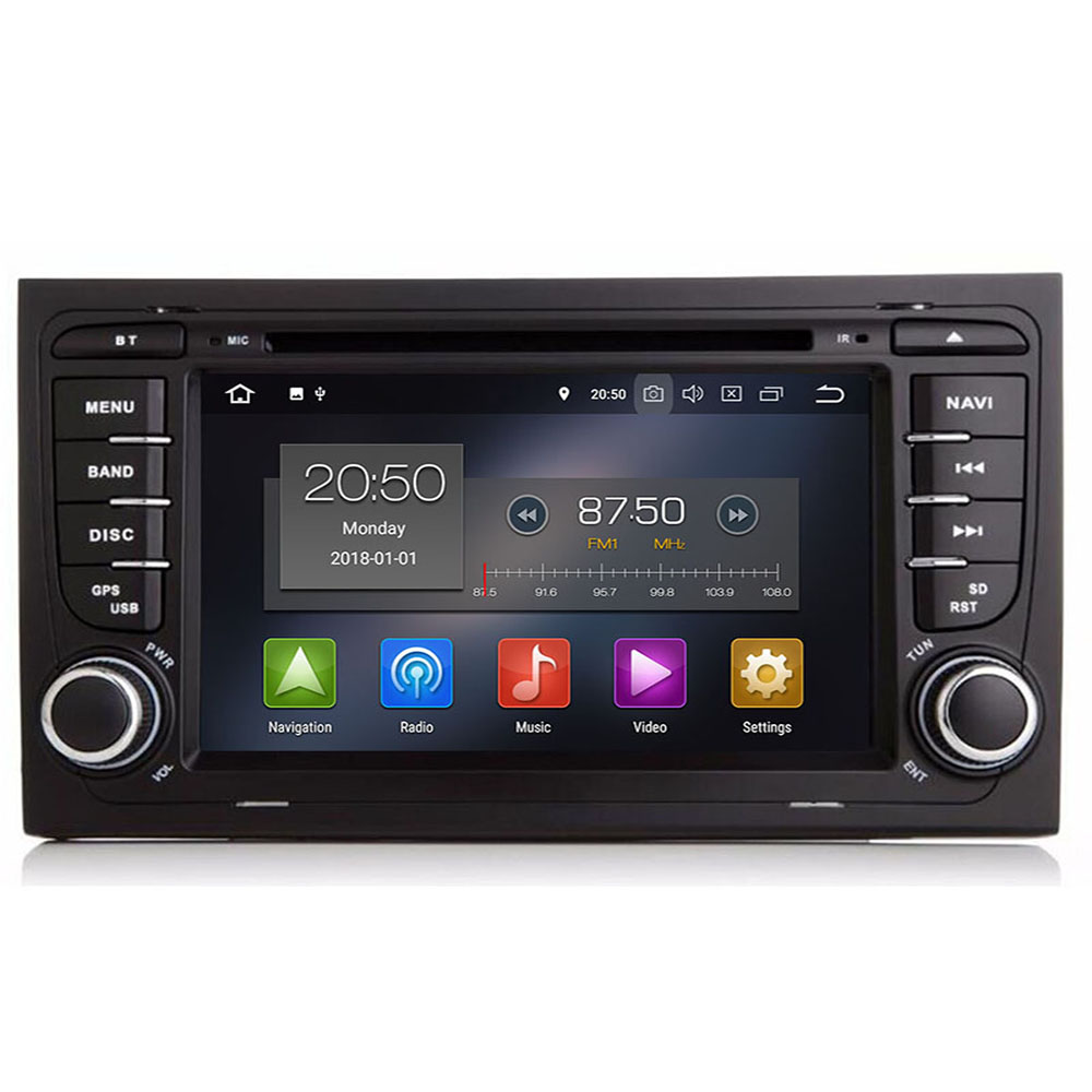 DSP IPS Android 9.0 4G 64G CAR GPS For Audi A4 B6 B7 S4 B7 B6 RS4 B7 SEAT Exeo dvd player radio IPS screen WIFI BT CARPLAY PC image