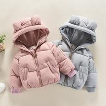 Верхняя одежда из хлопка для девочек теплая куртка с капюшоном детская зимняя куртка детская одежда Roupa De Frio Infantil Детское пальто