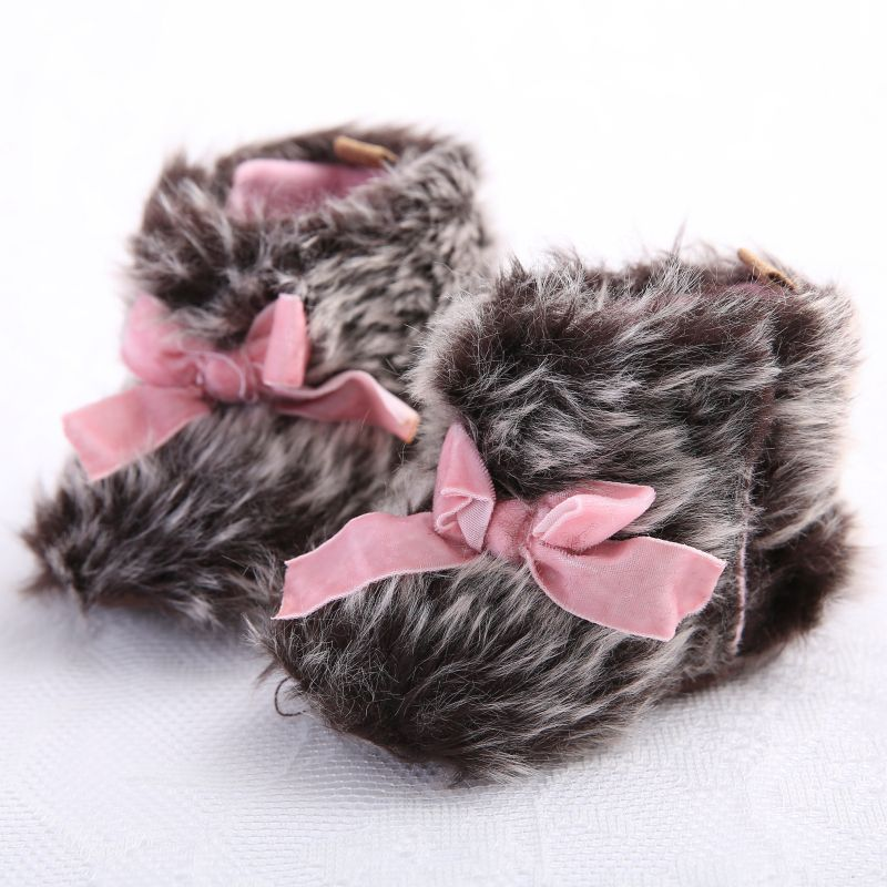 2019 Fashion Winter Baby Boots Infant Girls Warm Ankle Snow Boots Toddler Fur Plush Insole Boots Baby Shoes