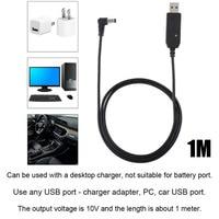 uv 5r uv USB Talkie Walkie פלסטיק 10V כבל מתאם מטען כבל חשמל 2-Way רדיו עבור Baofeng UV-5R UV-82 BF-F8HP UV-82HP UV-9R פלוס (2)