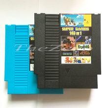 Super jogo 143 em 1 cartão de jogo de vídeo para 8 bits 72 pinos sistema console da ue/eua versão universal jogador do jogo