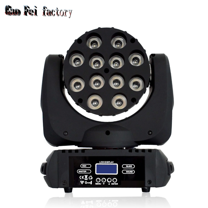 LED Moving Head Wash Beam 12pcs 12-watt RGBW 4-in-1 DMX Wash Stage Lighting For DJ Disco Party