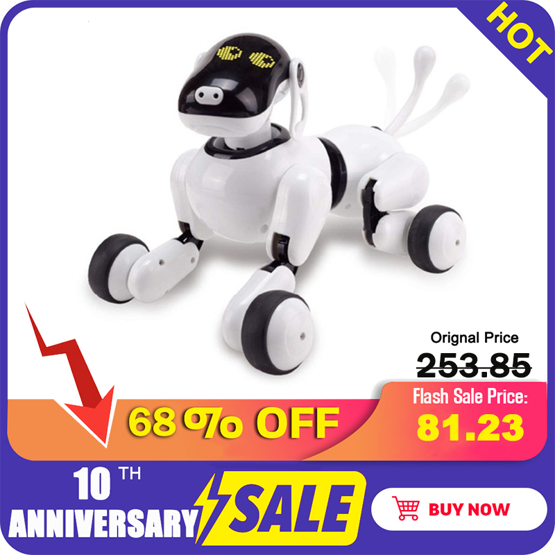 Robot Dog Voice &App Controlled Robot AI Dog Interactive Toys Dances Sings Plays Music Touch Motion Control Toys For Children