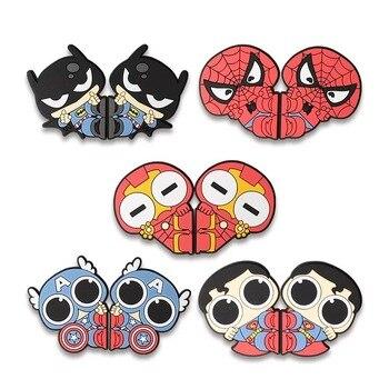 цена на 4 pcs Batman Iron Super Spider-Man Car door crash strip mirror protection stickers cartoon scratch proof door decoration sticker