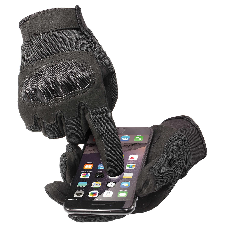 Сенсорный экран Slim Fit Военная армейская стрельба, страйкбол Пейнтбол тактическая боевая работа противоскользящие с твердыми костяшками перчатки полный палец