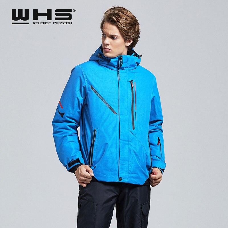 WHS Мужская Уличная лыжная куртка, ветрозащитная теплая куртка, зимняя куртка, тонкая, модная, простая, Спортивная, утолщенная, хлопковая одеж