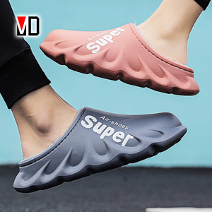 2020 New Waterproof Non-Slip Home Women Slippers Winter/Autumn Warm Indoor Cotton Men Couples Shoes Croc Charms Plush Brief