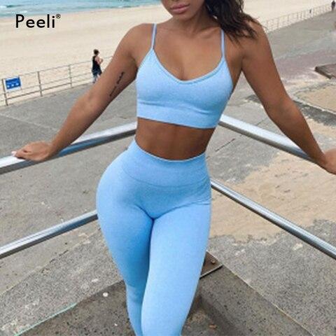 Conjunto sem Costura Roupas de Ginástica Conjunto de Fitness Peça Feminino Workout Yoga Esportes Terno Manga Curta Colheita Topos Cintura Alta Shorts Leggings 2