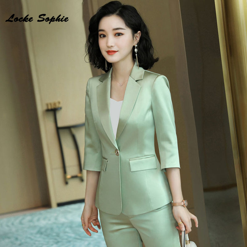 1pcs Women's Plus size Blazers coats 2020 Spring Smooth fabric  Half sleeve Small Suits jackets ladies Skinny Blazers Suits