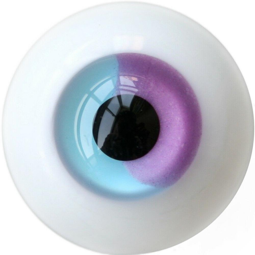 Purple /& Red Iris with Stripes 12mm Glass Eyes for Joint 1//6 BJD Dollfie