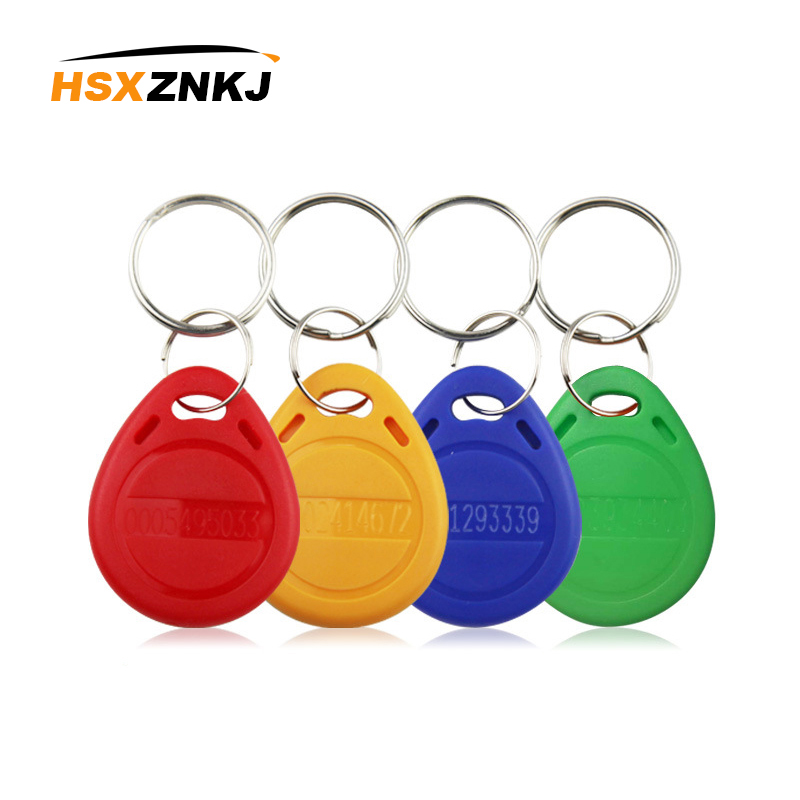 100pcs/Set EM4100 TK4100 RFID Keychain Token Ring 125KHz Chip Label Card Sticker Key ID Keychain