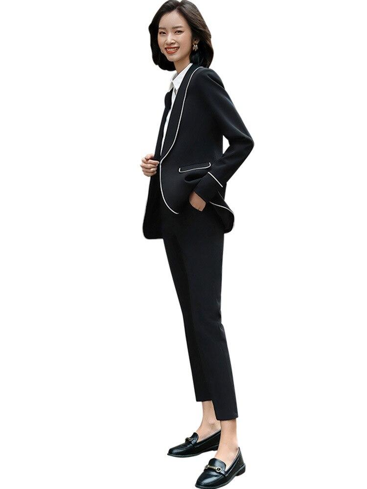 Female Elegant Business Women's Tops And Blouses Pants Blazer Suits Office Ladies Trouser Dress Jacket Work Wear 2 Pieces Set