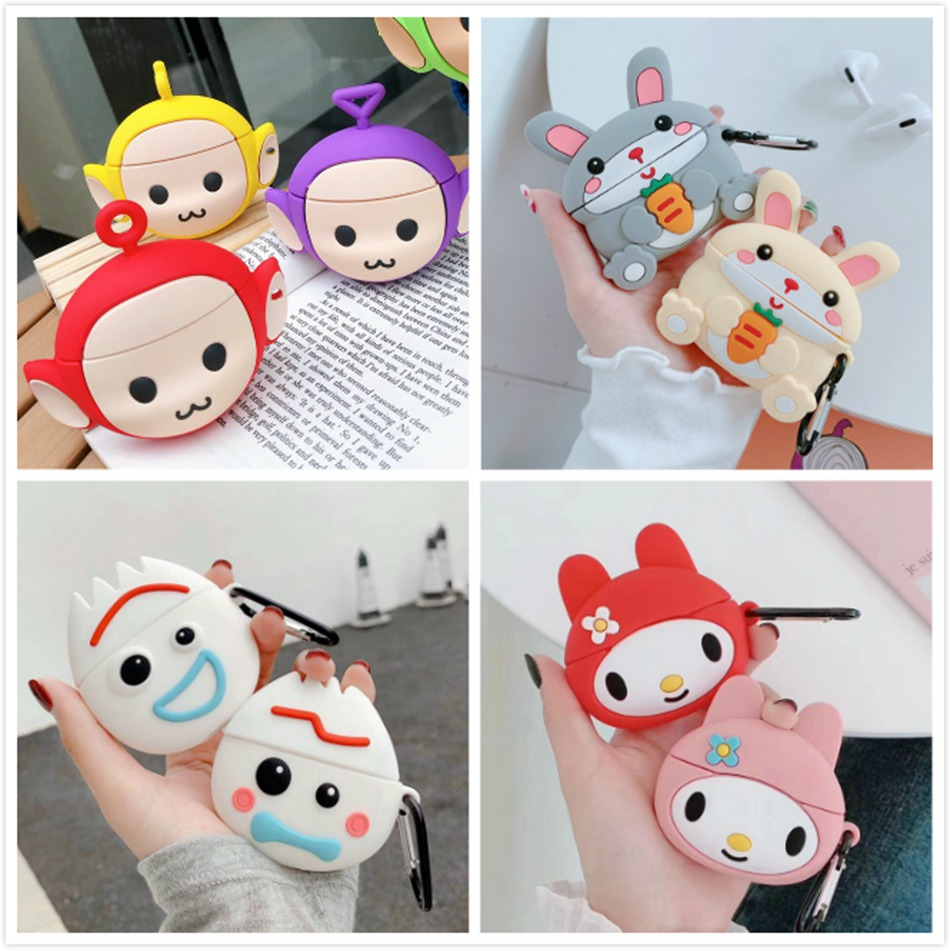 Earphone Case For Airpods Pro Case Silicone Cute Dog Bear Cookies Cartoon Earpods/Headphone Cover For Apple Air Pods Pro 3 Case