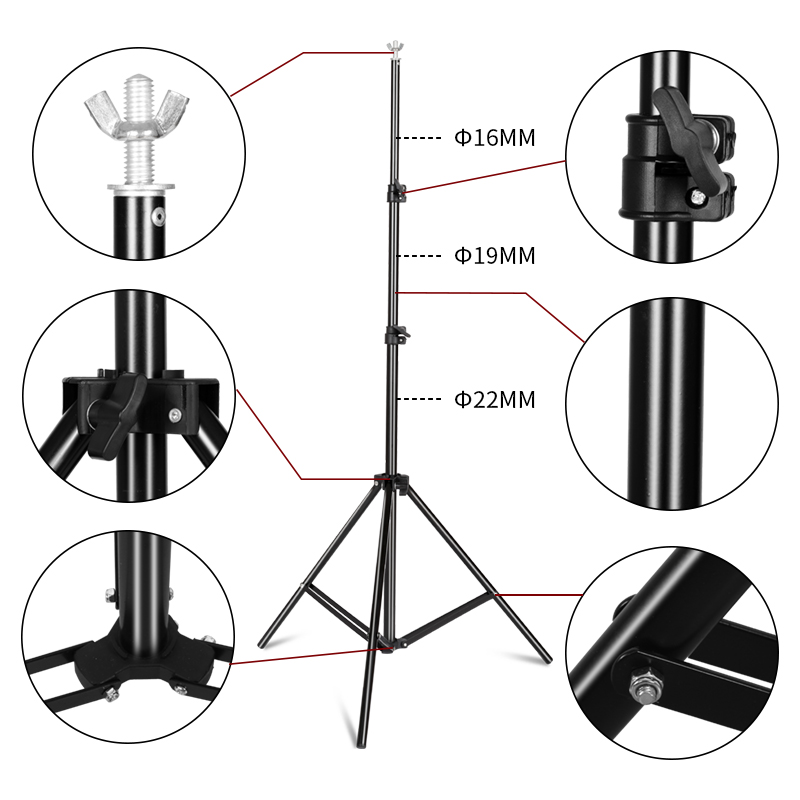 Image 3 - Photography Background Stand Support System Kit for Photo Studio 