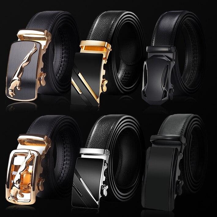 ¡Novedad de 2020! Cinturón de cuero de vaca con hebilla automática para hombre, cinturón de marca famosa, cinturones de lujo para hombre Ceinture Homme