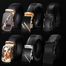 2020 New Male Designer Automatic Buckle Cowhide Leather men belt Famous Brand Belt Luxury belts for men Ceinture Homme