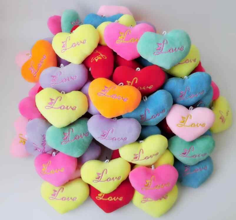 30 unids/lote llavero de felpa de amor para mujer bolsa fiesta regalo de boda juguetes para niños regalos de estudiante con envío gratis