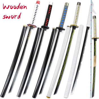 Wooden sword 100 cm Devil's Blade Role Playing Animated Weapons Children's Wooden Sword Toys Sword Sword Toys фото