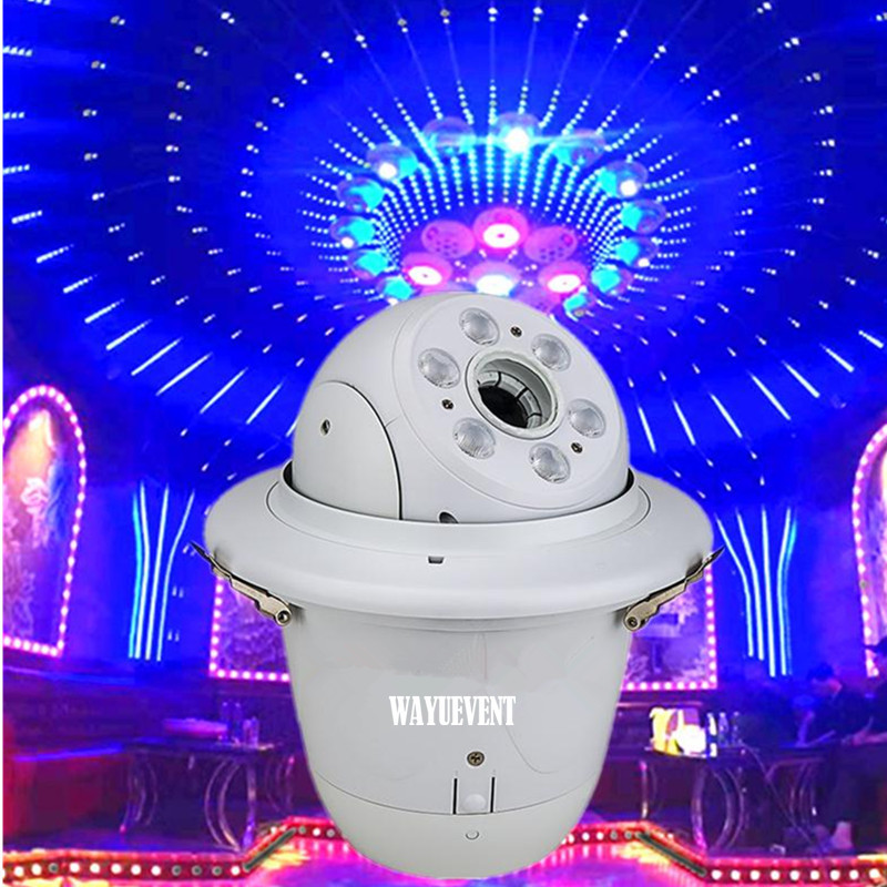 DMX 512 Stage Mini Moving Head Lighting LED Spot DJ Light 4 In 1 RGBW Lights 90W AC100-240V Strobe Effect For Club Bar Wedding