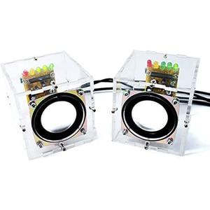 Mini Electronic Transparent Stereo Speaker Box DIY Kit Sound Amplifier for Arduino EK1831