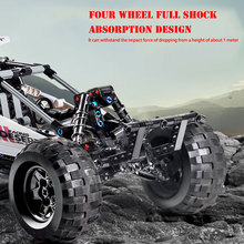 NEW 18001 APP RC Desert Racing Car Remote Control Technic Off road Vehicle Model MOC Fit Building Bricks LepinBlocks kids toys moc technic series fd35 rx7 remote control vehicle rc car redsuns model kit building blocks bricks c61023 for kids toys gifts