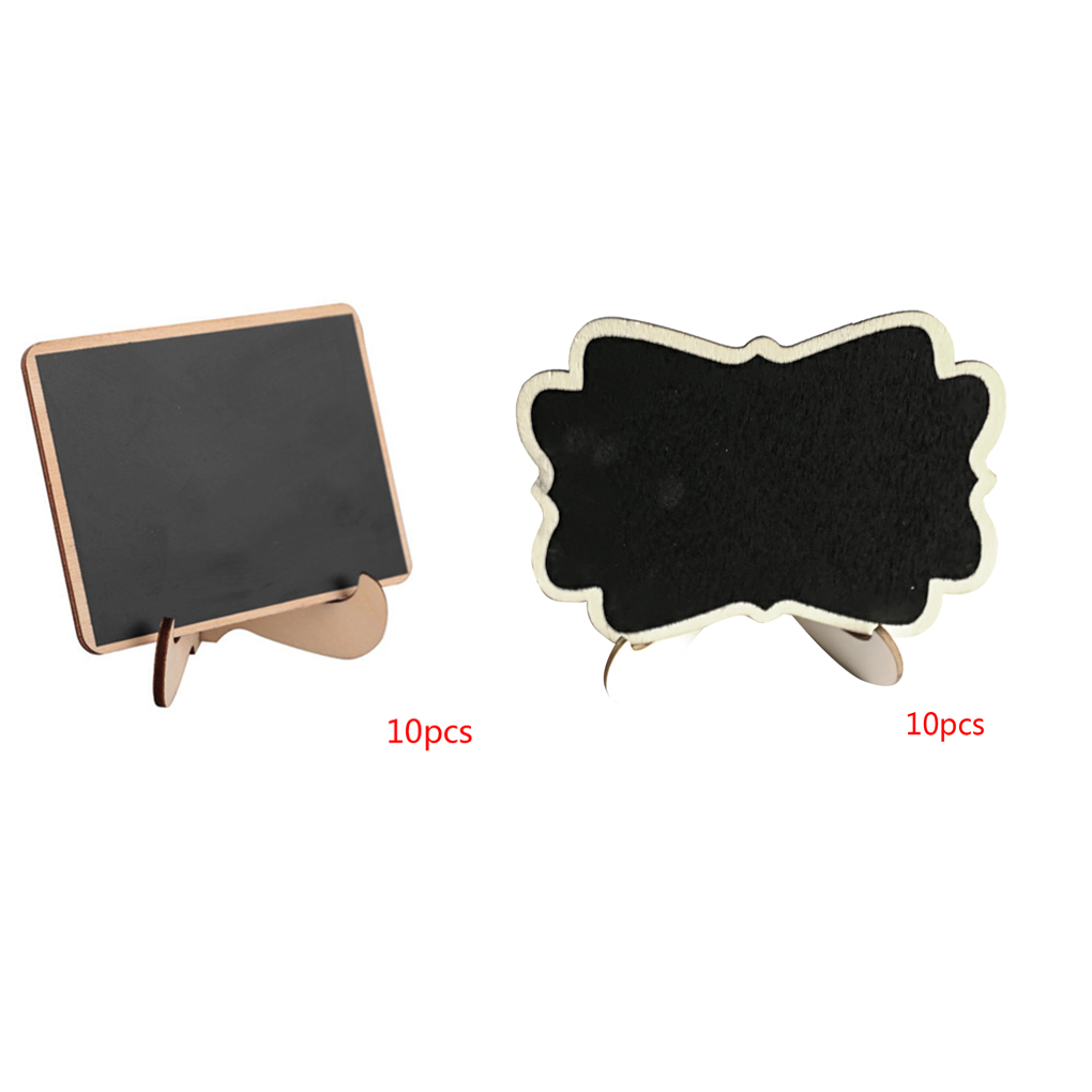 10pcs Wooden Mini Blackboard Wedding Party Decorations Chalkboards Message Board Rectangle/Floral Shape