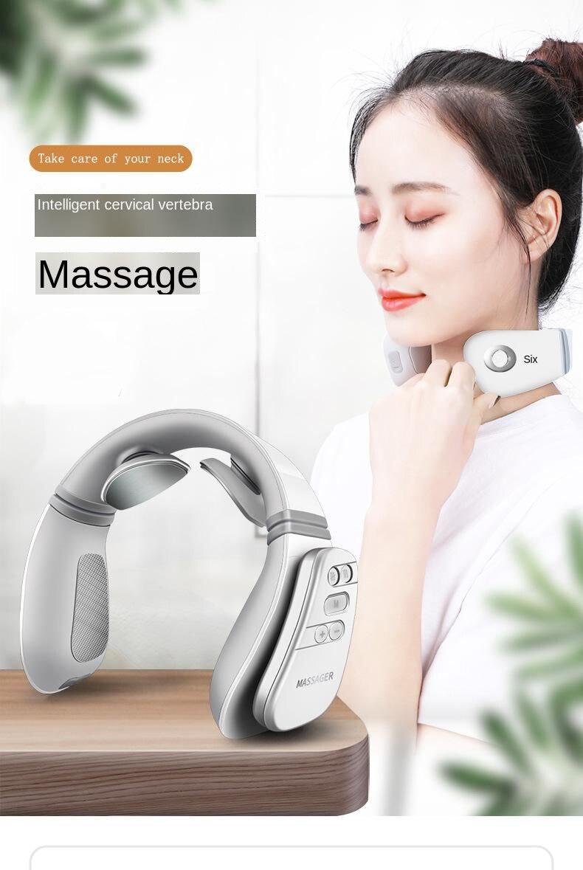 cuidados saúde relaxamento carregamento usb cervical massageador