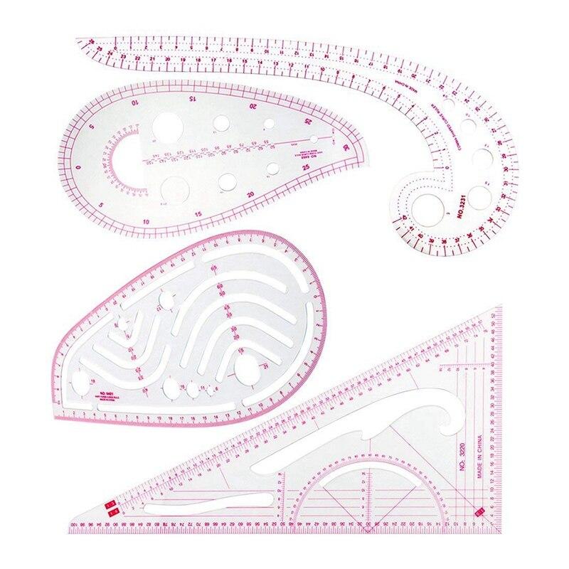 regla de costura Regla de costura juego de accesorios de regla para curvas francesas dise/ño de pl/ástico con motivos curvos