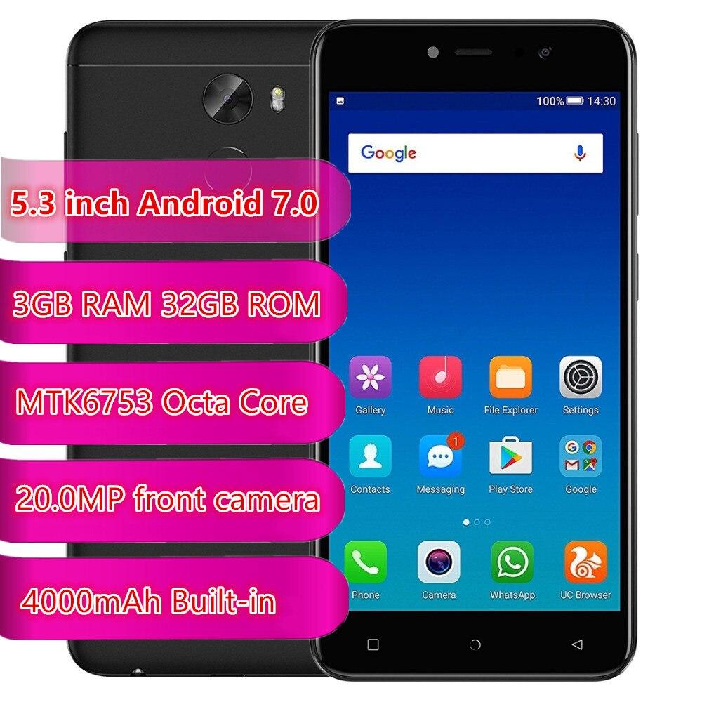 Gionee A1 Lite 4G Smartphone 5,3 Zoll Android 7,0 MT6753 Octa Core 3GB RAM 32GB ROM 20,0 MP Front Kamera Fingerprint 4000mAh Handys    -