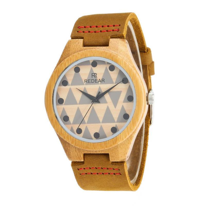 2019 Rushed Manufacturers Selling Bamboo Watch Fashion Leather Strap Speed Sell Through Amazon Hot Style Lovers Wooden Table
